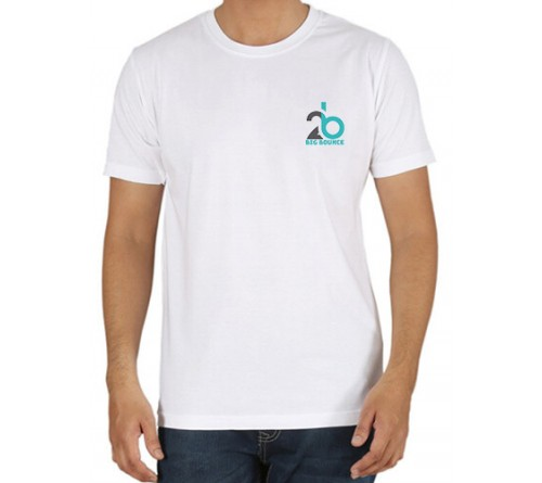 Embroidered Cotton Crew Neck T Shirt White
